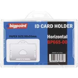 Yatay Şeffaf Kart Kabı 90X55 Mm Bigpoint 665