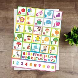 İngilizce Alfabe Eğitici Sticker