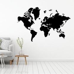 Dünya Haritası Duvar Sticker