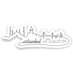 İstanbul Silüet Sticker