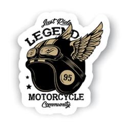Just Ride Legend Sticker