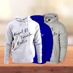 Kendin Tasarla Kapüşonlu Sweatshirt - Renkli
