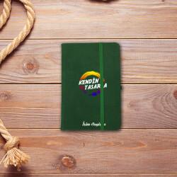 Kişiye Özel Yeşil Not Defteri Çizgili 9x14cm