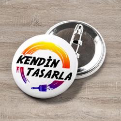 Buton Rozet - Kendin Tasarla