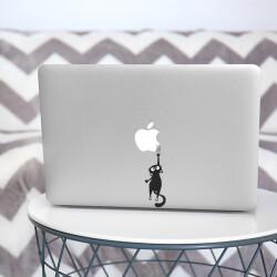 Macbook Düşen Kedi Sticker