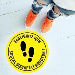 Sosyal Mesafeyi Koruyalım Etiket