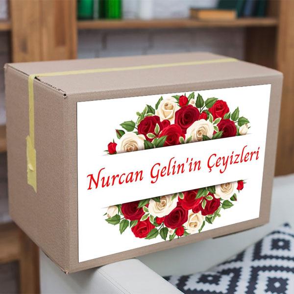 Kırmızı Güller Çeyiz Etiketi