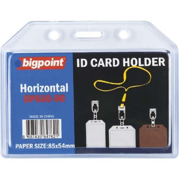 Bigpoint 660 Yatay Şeffaf Soft Kart Kabı