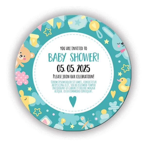 Baby Shower Sticker (Yapışkanlı)