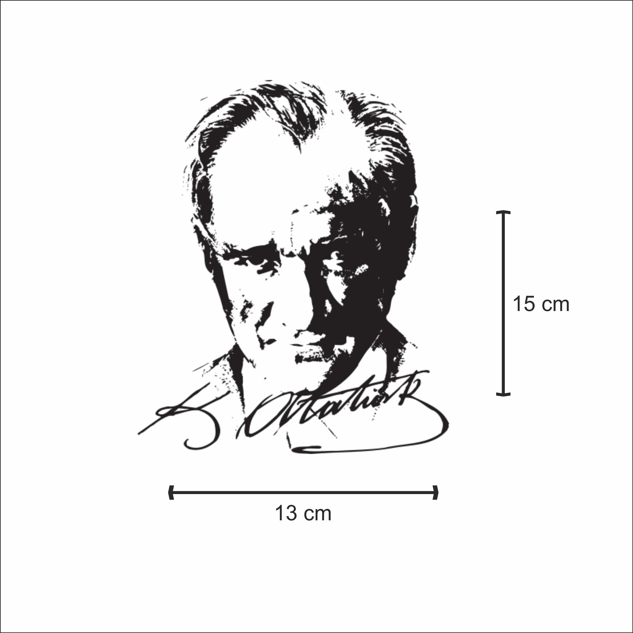 Kemal Ataturk Silueti Sticker