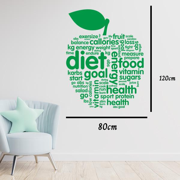 Diet Sağlık Duvar Sticker