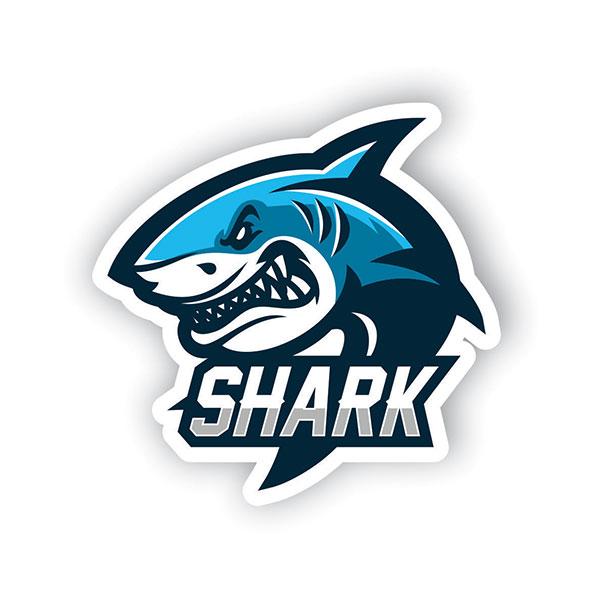 Kızgın Köpek Balığı Tasarımlı Sticker