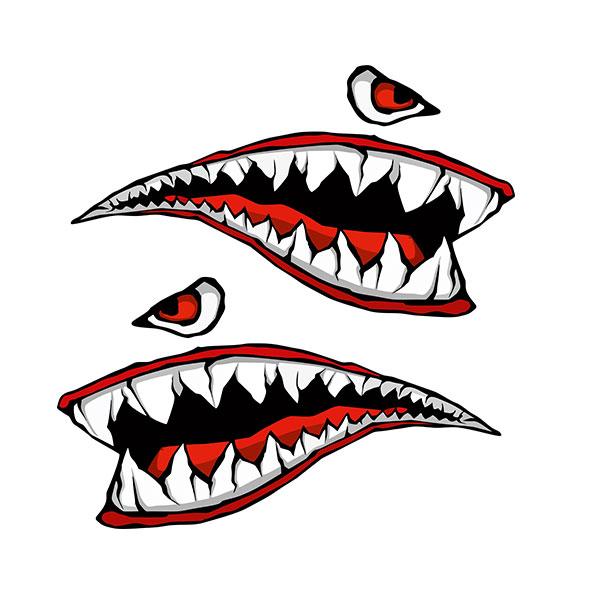 Kızgın Köpek Balığı Dişleri ve Gözü (Set)