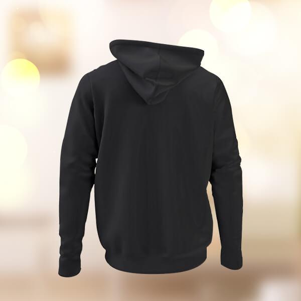 Kendin Tasarla Kapşonlu Siyah Sweatshirt