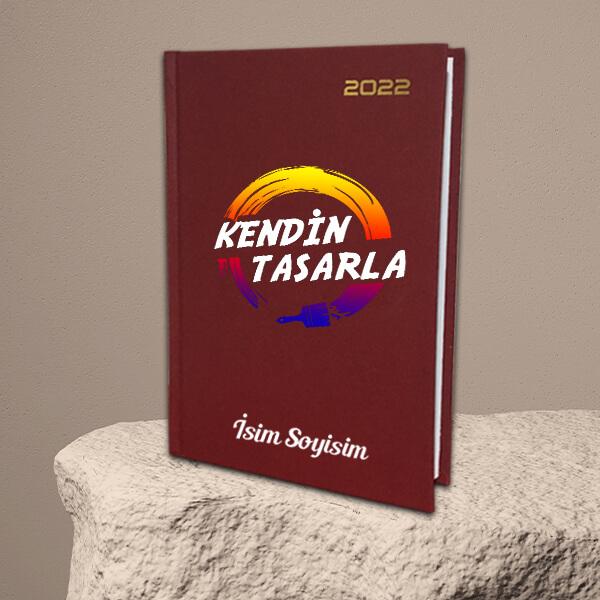 Kendin Tasarla Bordo Ekonomik Ajanda 2022   17x24cm