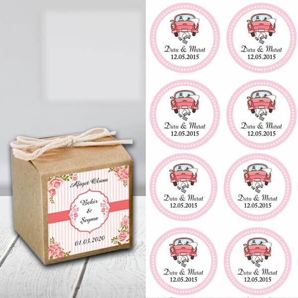 Kına-Düğün Sticker (Yapışkanlı)