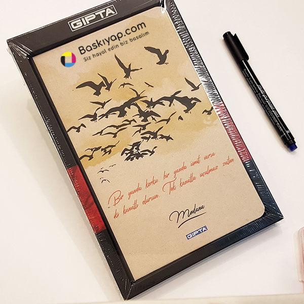 Gıpta Kuşlar 13x21 96Yp İplik Dikişli Sert Kapak Defter