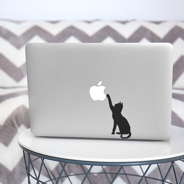 Macbook Kedi Yapışkanlı Sticker