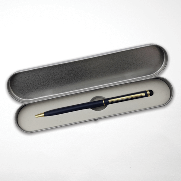 Mikro Baskılı Kutulu Metal Tükenmez Kalem