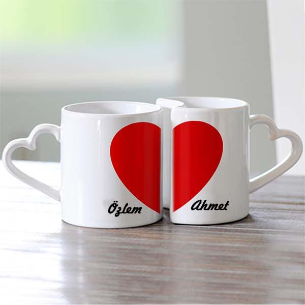 Kişiye Özel İkili Sevgili Kupası (Aşk Kupası)